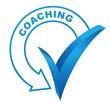 coaching sur symbole validé bleu