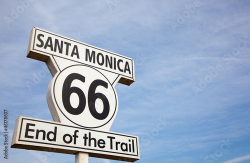 Route 66 sign in Santa Monica California