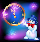 Snowman and chimes poster