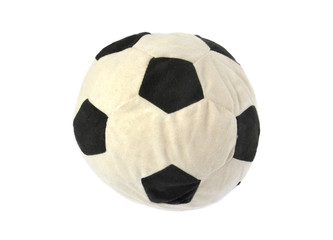 soft soccer ball on white background