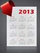 2013 calendar design with bending arrow