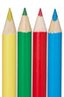 yellow,green,red and blue pencil