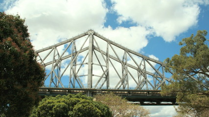 Timelapse of clouds with the Story Bridge