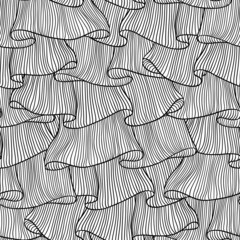 Lace and frills  hand drawn seamless pattern