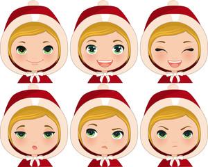 Expressions Xmas Santa Girl