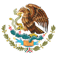 Mexico coat of arms.