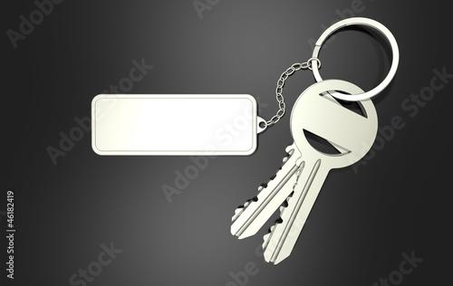 Schlüssel mit Anhänger ohne Text