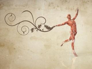 Anatomía Hombre con Flores