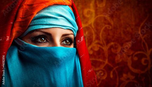 Fototapeten,arabic,schön,frau,auge