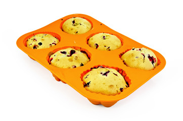Muffins in silicone molds