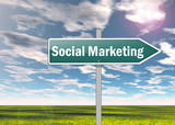 "Signpost ""Social Marketing"""