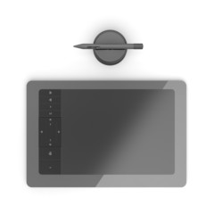 Black graphic tablet