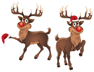 Rudolph The Reindeer with Christmas Hat