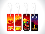 abstract diwali sale tag template