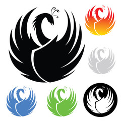 Phoenix symbol - vector illustration