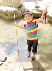 魚釣り Fishing