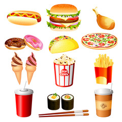 Vector Illustration of fast food item against white