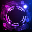 Shiny Dark Round Background Blue Violet Purple EPS10