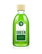 Your Green Glass Cosmetic Medicine Bottle