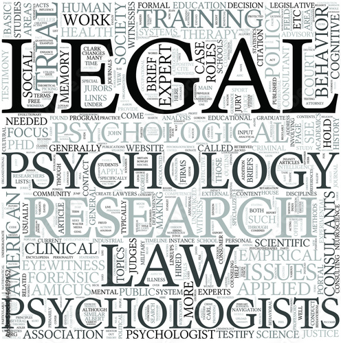 Legal aspects of psychology