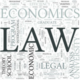 Law and economics Discipline Study Concept