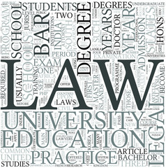 Legal education Discipline Study Concept