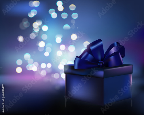 Gift box. Vector illustration.
