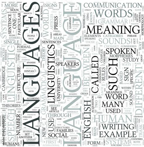 Languages Discipline Study Concept