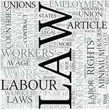 Labor law Discipline Study Concept poster