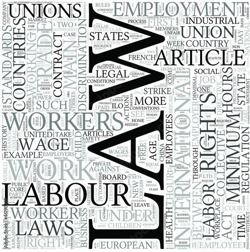 Labor law Discipline Study Concept