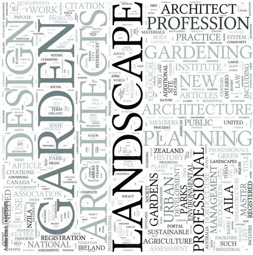 Landscape architecture Discipline Study Concept