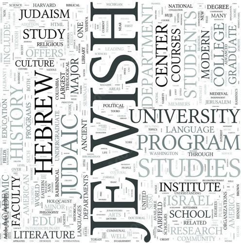 Jewish studies Discipline Study Concept