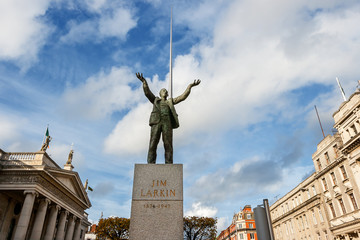 Statue of Jim Larkin. Dublin, Ireland