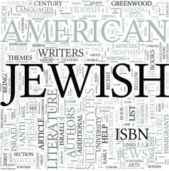 Jewish American literature Discipline Study Concept