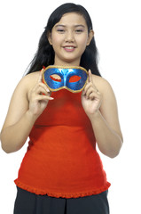 Fat Chubby Girl Wear Mask