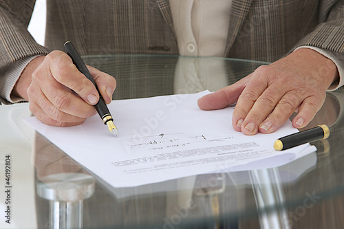 Busineess - Signature d'un contrat