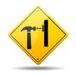 Señal amarilla simbolo carpinteria