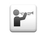 Boton cuadrado blanco simbolo trompetista