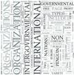 International organizations Discipline Study Concept