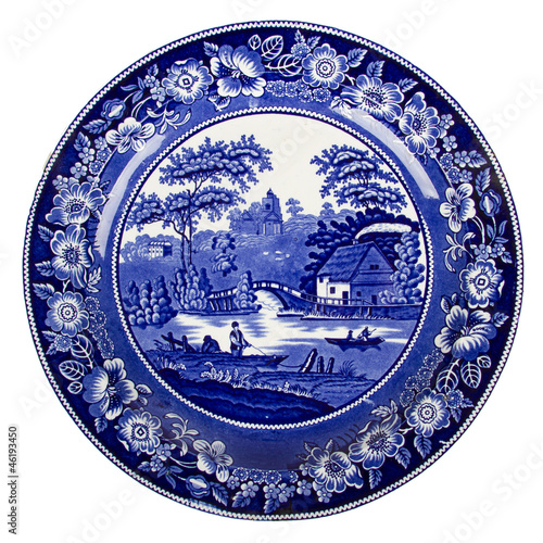 Very old dutch plate isolated