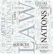 International law Discipline Study Concept
