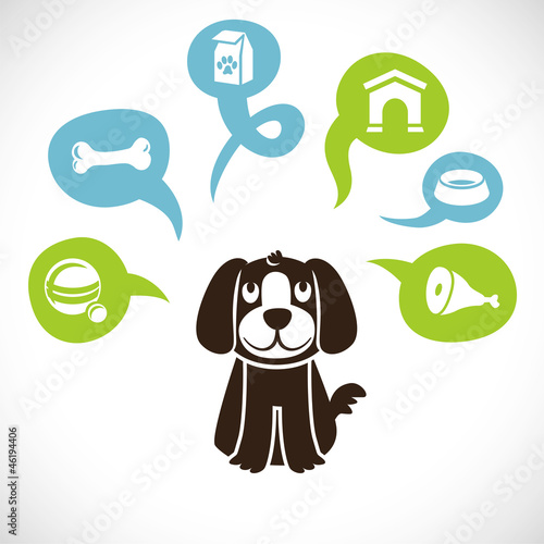 Vector funny cartoon dog