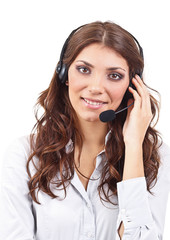 Operator business woman