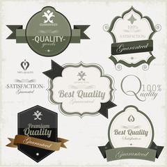 Vinatge Premium Quality Labels