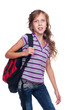 portrait of schoolgirl with knapsack