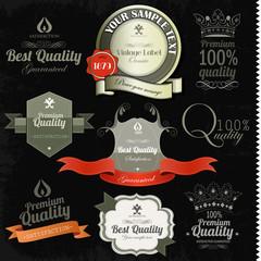 Vintage premium quality labels and inscriptions collection