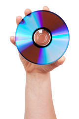 Hand holds the CD