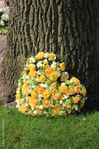 heart shaped sympathy arrangement