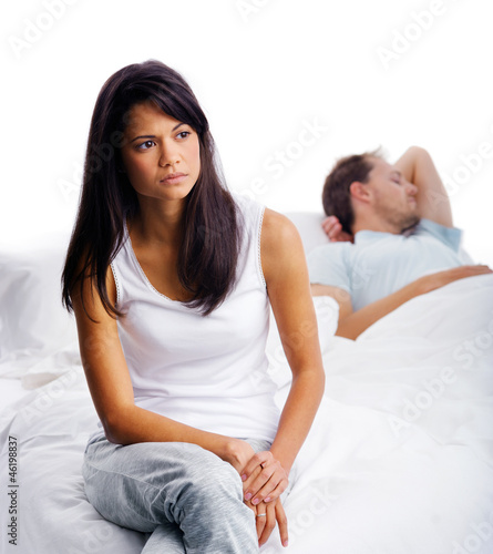couple fighting bedroom