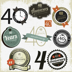 40 years Anniversary signs-designs collection